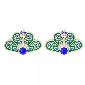 Kate Spade Blue & Gold Peacock Earrings